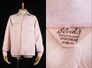 50's Block's gabardine shirt ギャバシャツ ピンク ブラック 買取査定