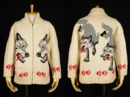 50's cowichan sweater カウチンセーター オオカミ柄 狼柄 買取査定