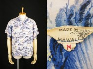 50's MADE IN HAWAII ハワイアンシャツ 和柄 鹿 買取査定