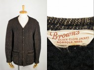40's BROWN'S BEACH ブラウンズビーチ ウールジャケット ゴマシオ 極上 買取査定