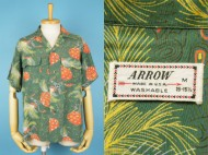 50's ARROW Aloha shirt ハワイアンシャツ オールオーバー 買取査定