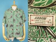 50's Aloha shirt ARROW ハワイアンシャツ オールオーバー 買取査定