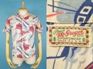 40's Aloha shirt McGREGOR マクレガー 筆記体 ハワイアンシャツ 買取査定