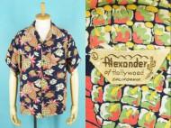50's Aloha shirt Alexander ハワイアンシャツ オールオーバー 買取査定