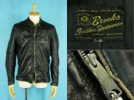 60's Brooks ブルックス レザー ライダースジャケット シングル ブラック 買取査定