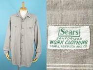 50's Sears シアーズ シャンブレーシャツ グレー 買取査定
