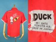 50's DUCK 横田エアベース 半袖 ボーリングシャツ チャーリーブラウン 日本製 買取査定