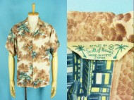 50's Scott of Hawaii 半袖 ハワイアンシャツ 和柄 寺院 日本製 買取査定