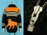 60's Cowichan sweater アメフト 動物柄 カウチン セーター 買取査定