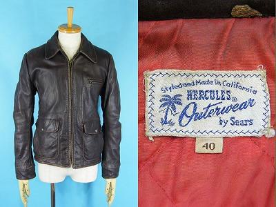 50's HERCULES leather jacket